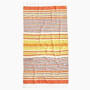 NWT J. Crew Tassel Towel/ Beach Blanket Hybrid